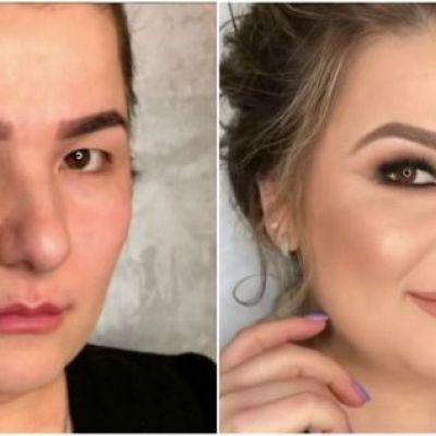 Asta da magie! Un make-up guru din Rusia transforma femeile obisnuite in dive, doar prin machiaj