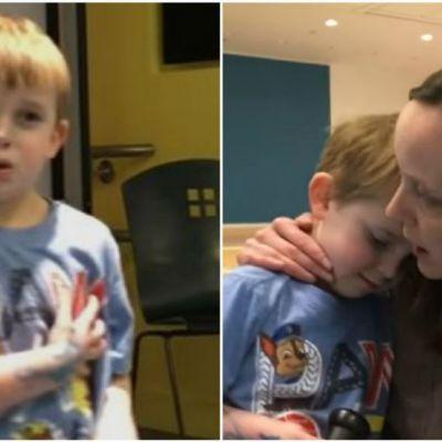 Baietelul din imagini a aflat ca va primi o inima noua, iar reactia lui a uimit tot internetul. Ce spune micutul