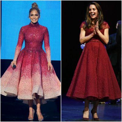 Kate Middleton, intr-o rochie a la Jennifer Lopez la un spectacol musical. A fost fotografiata minute in sir