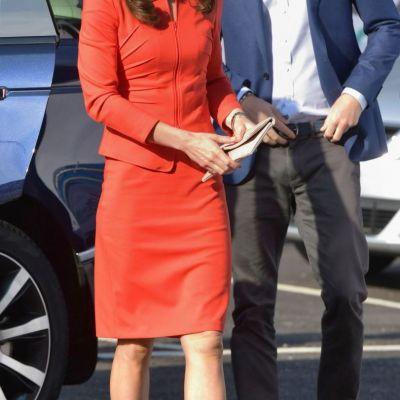 Kate Middleton, absolut adorabila in rosu. Cum a aratat Ducesa la ultimul eveniment