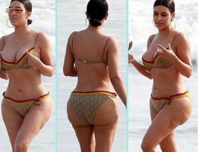 Kim Kardashian isi ia revansa. Dupa ce fotografiile needitate cu ea au facut valuri, vedeta s-a lasat pozata asa din nou