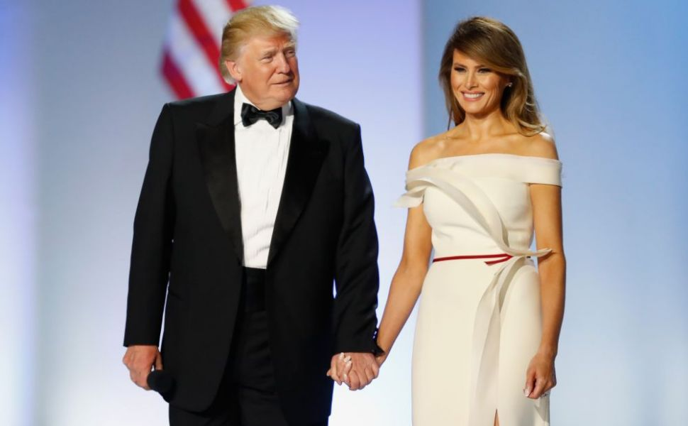 Melania Trump, superba intr-o tinuta masculina, la intalnirea cu premierul canadian, Justin Trudeau