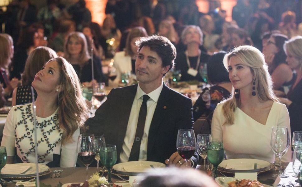 Si-au zambit tot timpul.Ivanka Trump si premierul canadian,Justin Trudeau impreuna la un eveniment.Cum au fost surprinsi