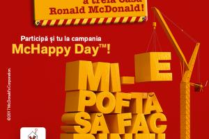(P) bdquo;Mi-e pofta sa fac bine  intre 20-26 noiembrie, impreuna cu Fundatia pentru Copii Ronald McDonald