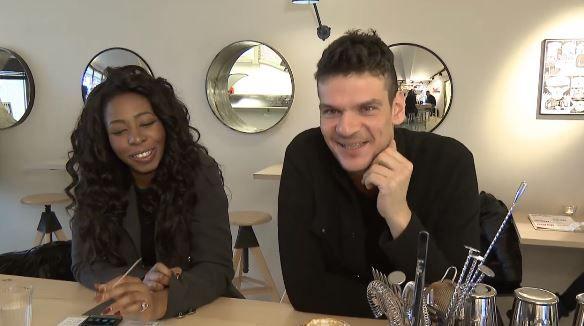 Tudor Chirila si Meriam Jane, discutie la cafea despre piesele pentru Vocea Romaniei
