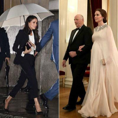 Kate Middleton si Meghan Markle, complet diferite. Tinutele lor din ultimele zile au ridicat multe semne de intrebare