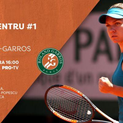 Simona Halep în finala Roland Garros. Andreea Esca și Cristian Tudor Popescu vor comenta în direct, la PRO TV, evoluția tenismenei