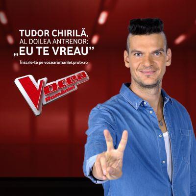 Tudor Chirilă ocupă scaunul de antrenor la Vocea României. Anunțul făcut la Știrile Pro Tv