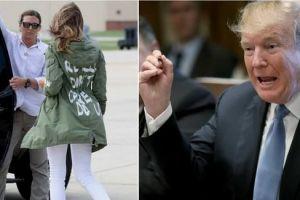 Donald Trump sustine ca mesajul controversat de pe jacheta purtata de Melania Trump in timpul vizitei la copiii imigranti din Texas a fost intentionat