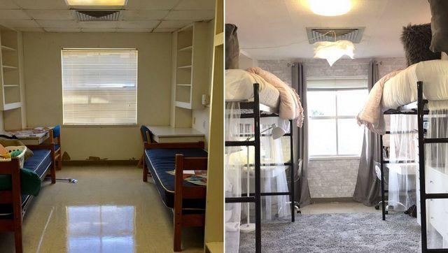 Aceasta este dintre cele mai frumoase transformări a unei camere de studenți!