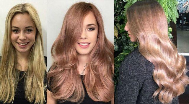 Blondul auriu Rosé este culoarea vedetă în această toamnă