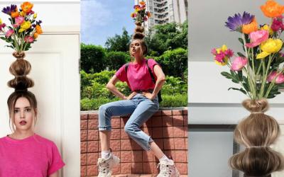 Aceste femei au o cu totul și cu totul altă idee despre purtatul florilor în păr. Te-a prins moda asta?