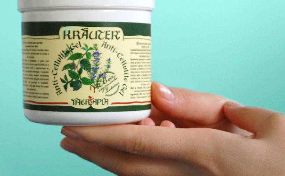 Gel anticelulitic cu menta bio kräuter cu aplicator